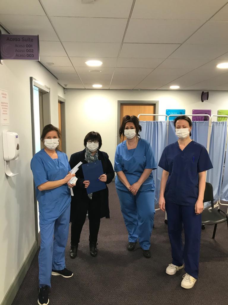 Nurses at the covid vaccination centre